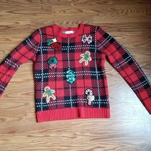 Forever 21 Christmas sweater sequins size small